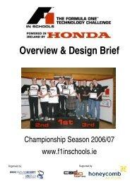 Overview & Design Brief - F1 in Schools