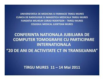 conferinta nationala jubiliara de computer tomografie cu participare ...