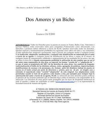 Dos Amores y un Bicho ff - Gustavo Ott