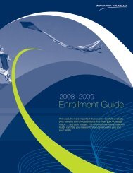 2008-2009 Annual Enrollment Guide - Benefits Online