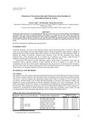 Detection of Oxytetracycline and Chlortetracycline Residues in ...