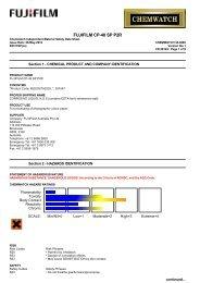 Chemwatch Australian MSDS 32-0292 - FUJIFILM Australia