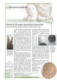 Ätherische Öle gegen übermäßigen Haarausfall - Eliane Zimmermann