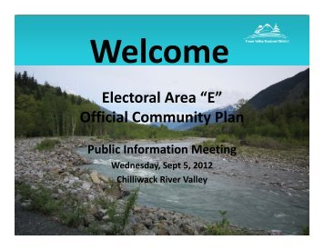 Official Community Plan - Fraser Valley Regional District
