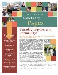 Sarah edits of newsletter - The Sanctuary Model