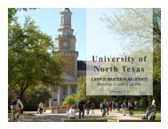 Master Plan Update - University of North Texas System