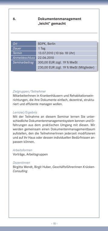 """6. Dokumentenmanagement """"leicht"""" gemacht - VdPK"""