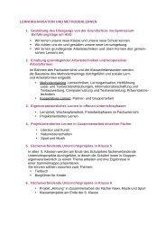 Lernorganisation und Methodenlernen - HSG