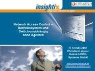 Network Access Control – Betriebssystem und Switch-unabhängig ...