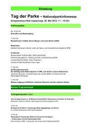 Einladung Tag der Parke - Geplanter Nationalpark Teutoburger Wald