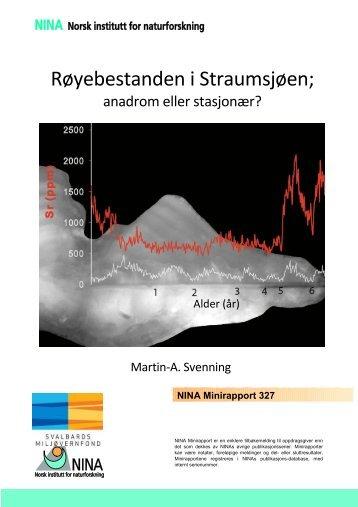 Røya i Straumsjøen Svalbard NINA Minirapport no ... - Sysselmannen