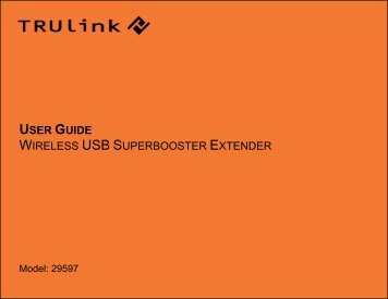 USER GUIDE WIRELESS USB SUPERBOOSTER EXTENDER