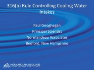 316(b) Rule Controlling Cooling Water Intakes