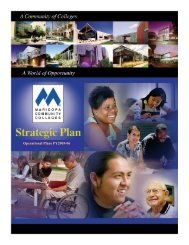 Operational Plans FY2005-06 - Maricopa Community Colleges