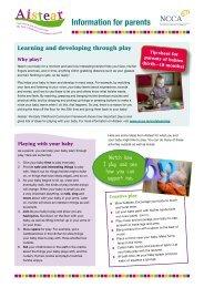 Information for parents - NCCA