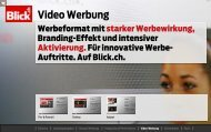 Blick.ch Video Werbung - Go4media