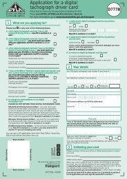 Application for a digital tachograph  driver card - Nationwide Driver ...