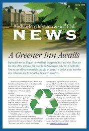 WDI Newsletter 4.08 v4.qxd - Washington Duke Inn & Golf Club