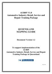 aur05 automotive industry retail, service and repair training package ...