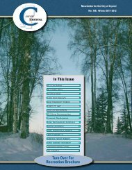 Turn Over For Recreation Brochure In This Issue - City of Crystal
