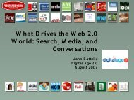 Search, M edia, and Conversations - Digital Age 2.0