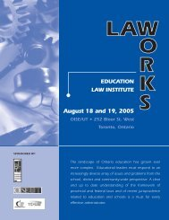 new law works - Ontario Institute for Studies in Education - University ...