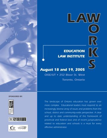 education case law studies Supreme court case studies: by topic street law street law, inc over 40 years of educating about law, democracy, and human rights first amendment - speech.
