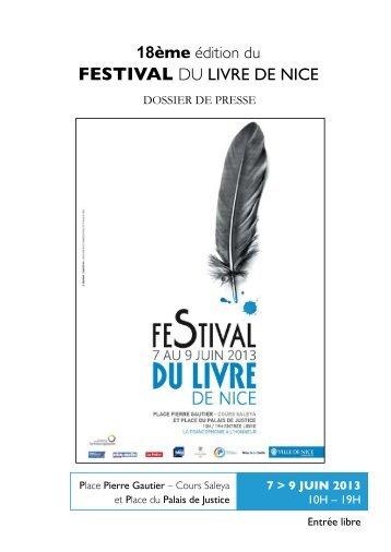 FESTIVAL DU LIVRE DE NICE - Organisation internationale de la ...