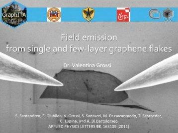 Field emission - GraphITA - Cnr