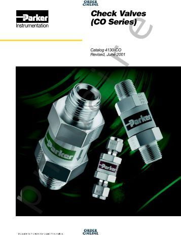 Check Valves (CO Series) - Coast Pneumatics