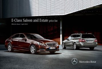 E-Class Saloon and Estate price list - Mercedes-Benz (UK)