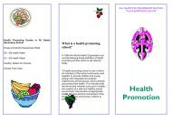 Health Promotion - All Saints Secondary School