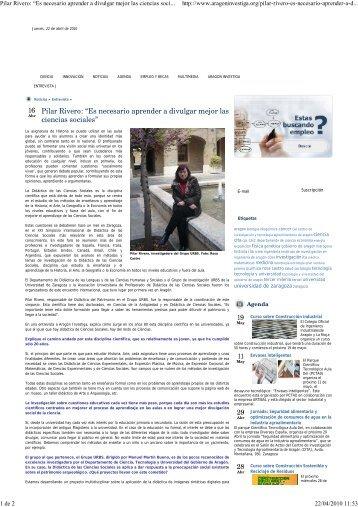 Entrevista a Pilar Rivero - Grupo de investigación URBS