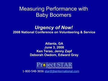 Measuring Performance of Baby Boomers - National Service ...