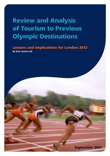 Review and Analysis of Tourism to Previous Olympic ... - Event Hub