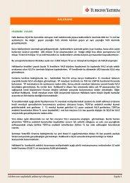 Lütfen son sayfadaki çekinceyi okuyunuz. Sayfa 1 - Turkborsa.net