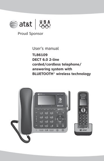 TL86109 DECT 6.0 2-line corded/cordless telephone
