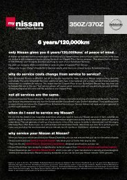 only Nissan gives you 6 years/120,000kms* of peace of mind ... - Ahg