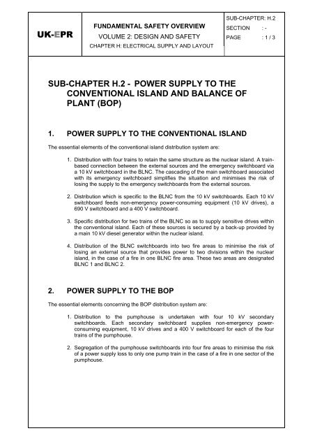 uk-epr sub-chapter h 2 - power supply to the conventional island