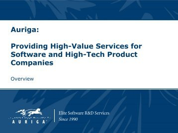 Providing High-Value Services for Software and High-Tech Product ...