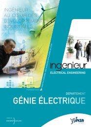 département Génie Electrique - INSA de Lyon