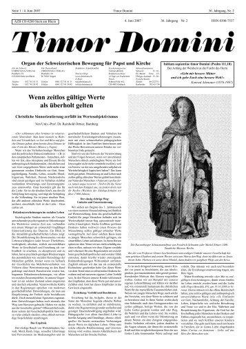 Wenn zeitlos gültige Werte als überholt gelten - Christiana-Verlag