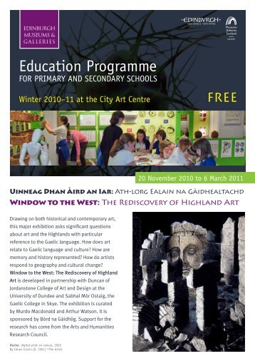 Education Programme - Edinburgh Museums