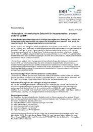 PrimaryCare – Schweizerische Zeitschrift für Hausarztmedizin - EMH