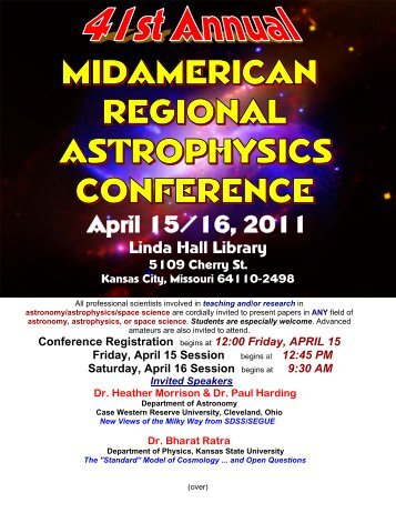April 15/16, 2011 - Physics and Astronomy