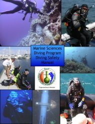 to download the diving safety manual - Marine Sciences - University ...