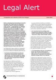 Juillet 2013 Transposition de la directive UCITS IV en Pologne Suite ...