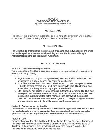 Bylaws of the Warren Music Booster Club ARTICLE I: EXECUTIVE ...