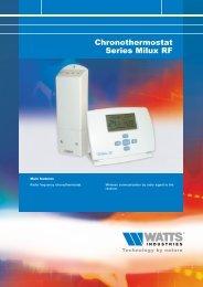 Chronothermostat series Milux RF - Watts Industries