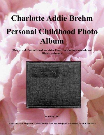 Charlotte Brehm Childhood Photo Album - RingBrothersHistory.com